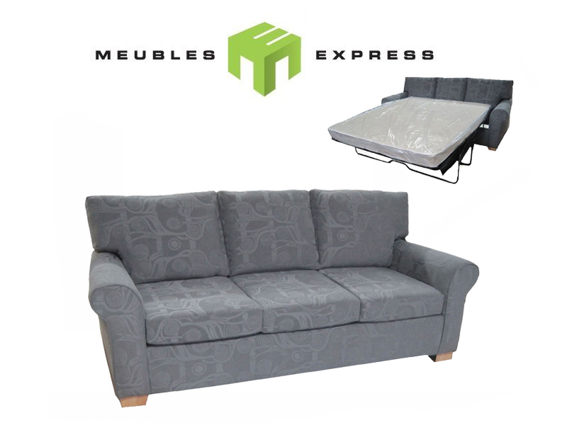 sofa lit double mod le merlot meubles express