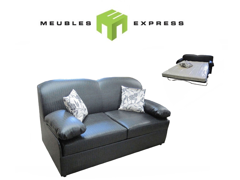 Sofa lit 64 39 39 mod le pi mont meubles express for Sofa modulaire liquidation