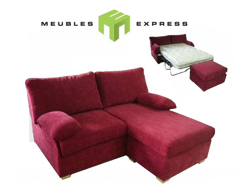 Sofa lit petit 64 39 39 mod le pinot meubles express for Divan quebec