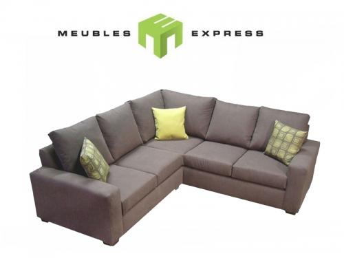 Sofa lit double avec m ridienne meubles express for Meuble leon divan sectionnel