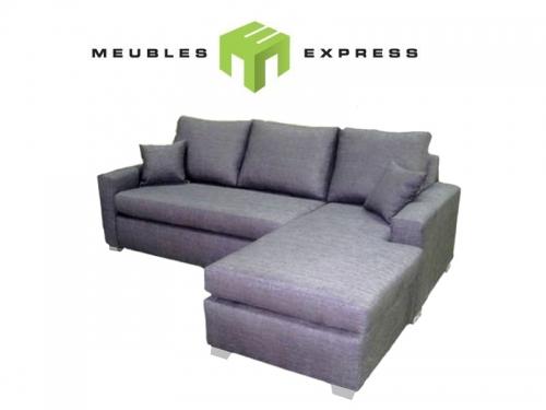 Sofa condo lit avec m ridienne interchangeable mod le for Divan lit sectionnel