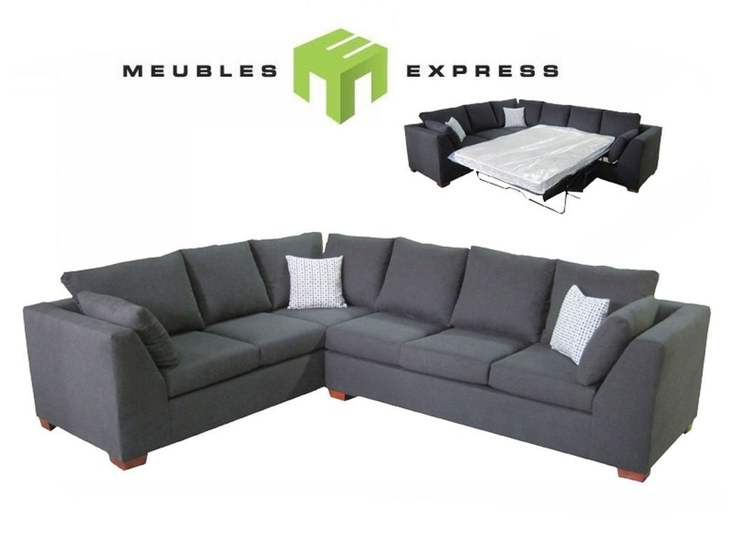Sofa sectionnel 6 places avec lit double possibilit de for Divan quebec