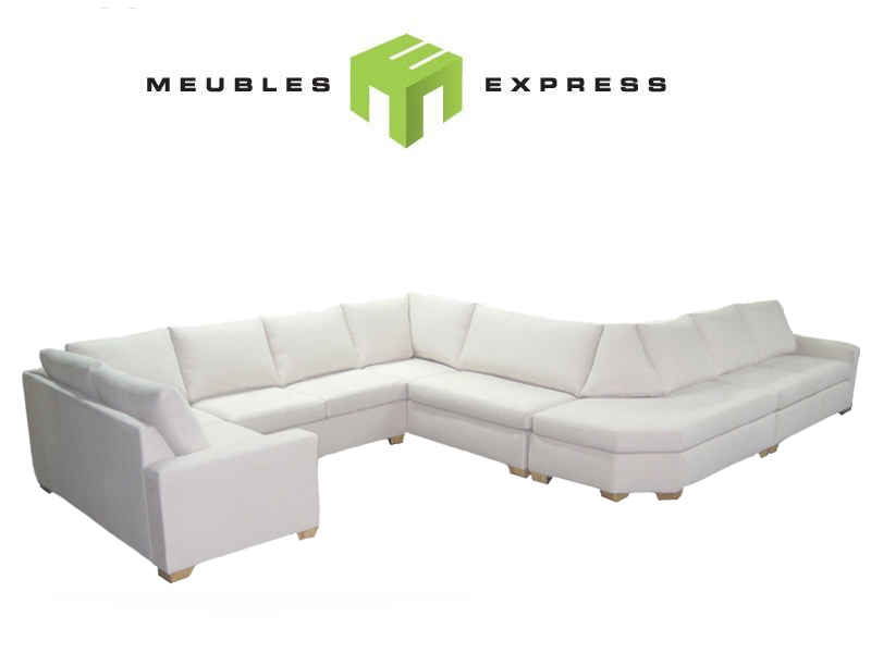 Mobilier de salon sectionnel sur mesure meubles express for Sofa modulaire liquidation