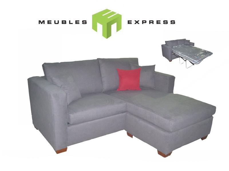 Sofa lit condo avec m ridienne r versible mod le shiraz - Sofa lit liquidation ...