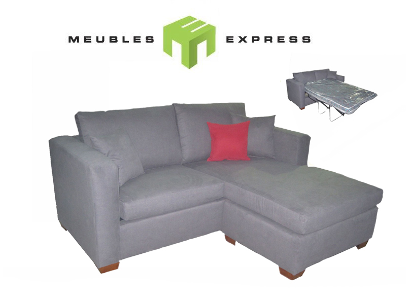 Sofa lit condo avec m ridienne r versible mod le shiraz for Liquidation causeuse