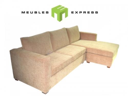 Sofa lit 64 39 39 mod le pi mont meubles express for Petit sofa lit