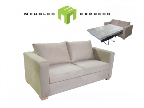 Sofa sectionnel 6 places avec lit double meubles express for Divan quebec
