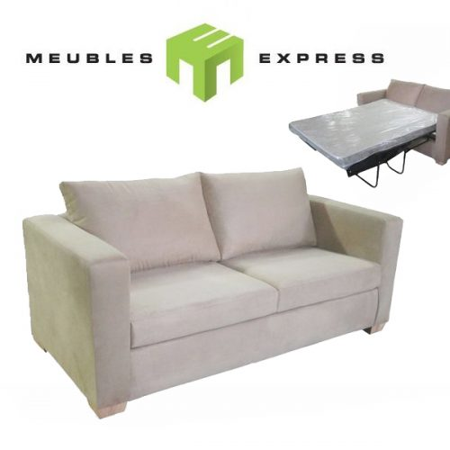 sofa sectionnel 6 places avec lit double possibilit de faire sur mesure meubles express. Black Bedroom Furniture Sets. Home Design Ideas
