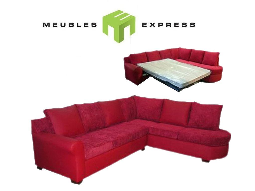 sectionnel avec lit double merlot modifi meubles express. Black Bedroom Furniture Sets. Home Design Ideas