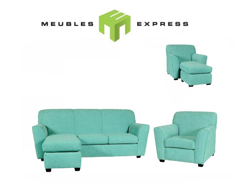 Causeuse fauteuil ottoman possibilit sur mesure mod le for Causeuse liquidation