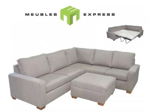 Sofa sectionnel avec lit double meubles express for Leon divan sectionnel