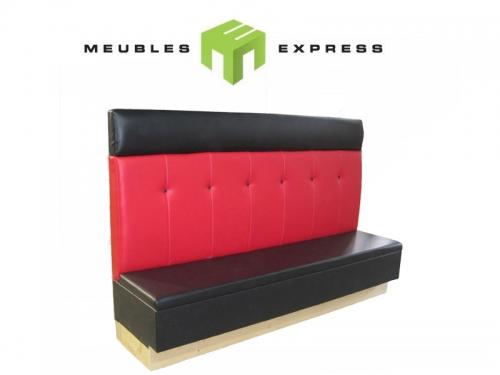 Banquette sur mesure pour restaurant meubles express - Fabrication banquette sur mesure ...