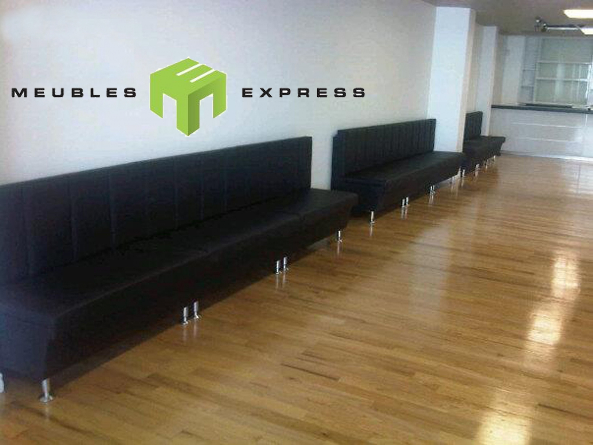 banquette r sidentiel ou commercial sur mesure meubles express. Black Bedroom Furniture Sets. Home Design Ideas