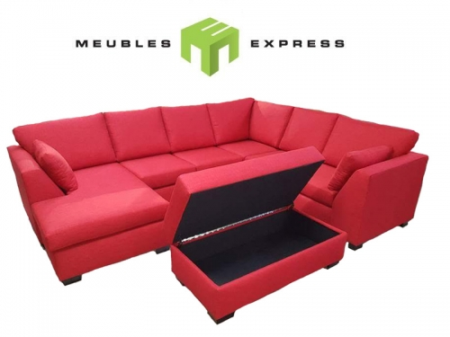 Sofa condo lit avec m ridienne interchangeable mod le for Meuble brault et martineau liquidation