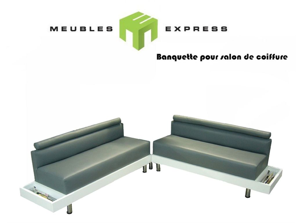 banquette r sidentielle ou commerciale meubles express. Black Bedroom Furniture Sets. Home Design Ideas