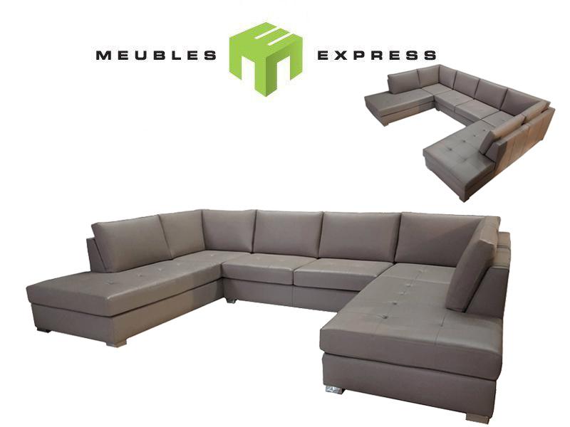 Sofa sectionnel sur mesure meubles express for Meuble leon divan sectionnel