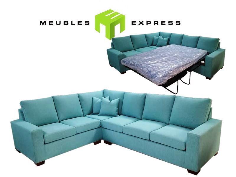 Sofa sectionnel avec lit double meubles express - Sofa lit liquidation ...